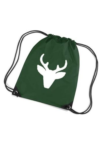 Red backpack, gym bag with reindeer - Copy