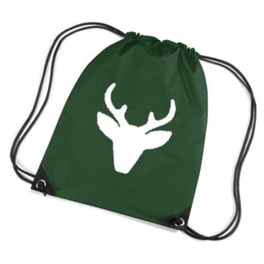 Red backpack, gym bag with reindeer - Copy-1