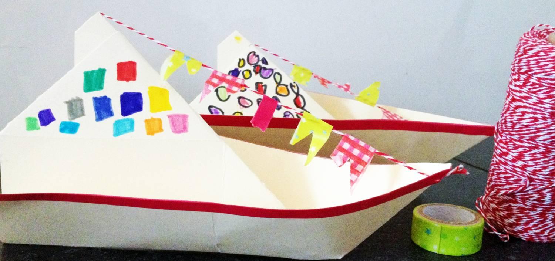 Stoomboot van Sinterklaas knutselen