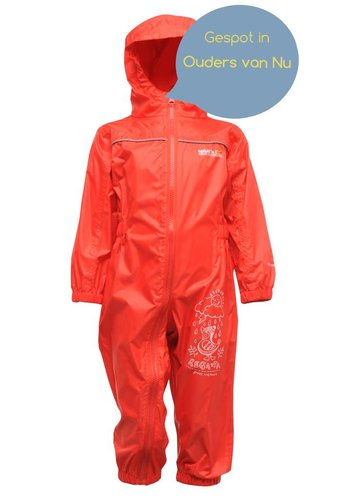 Regatta Children's rain suit Puddle, red, breathable and lightweight