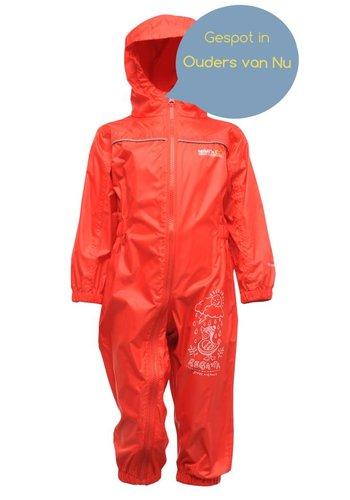 Regatta Kinderregenpak Puddle, rood, ademend en lichtgewicht