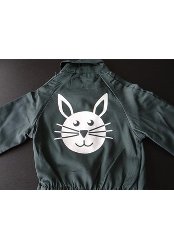 Rabbit print for overalls