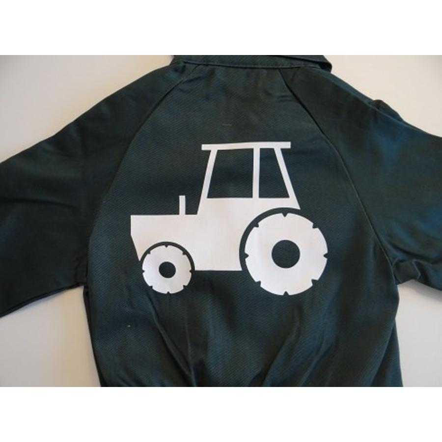 Overall with tractor, tractor-4