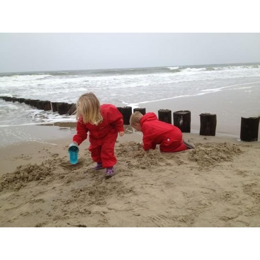Waterproof coveralls, rain boiler suit - red-5