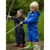 Waterproof coveralls, rain boiler suit - blue