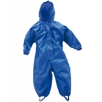 thumb-Waterproof coveralls, rain boiler suit - blue-5