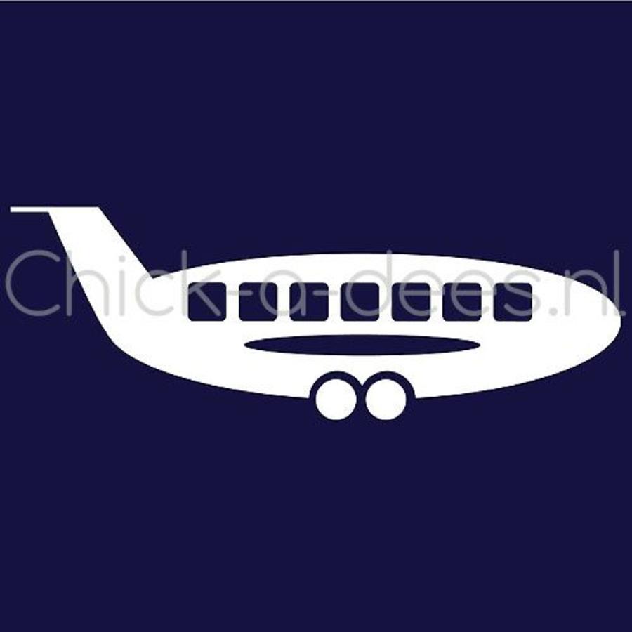 Vliegtuig print voor overall-1