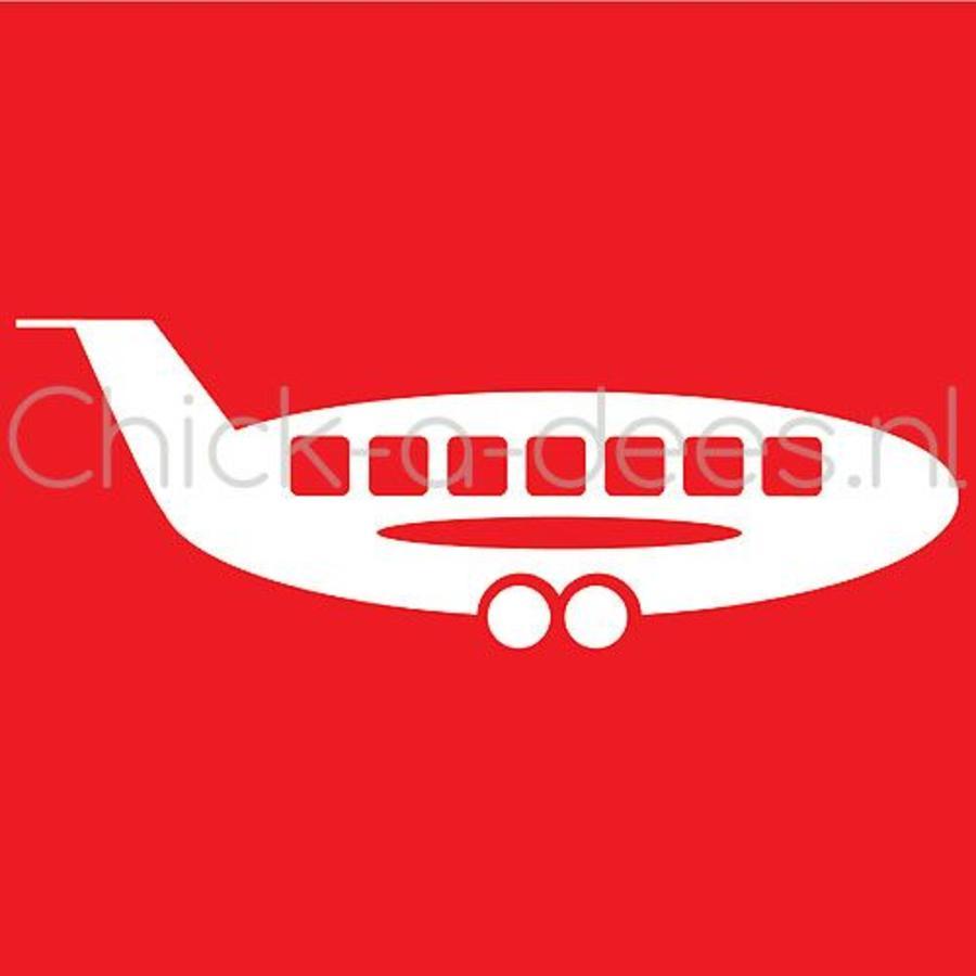 Vliegtuig print voor overall-4
