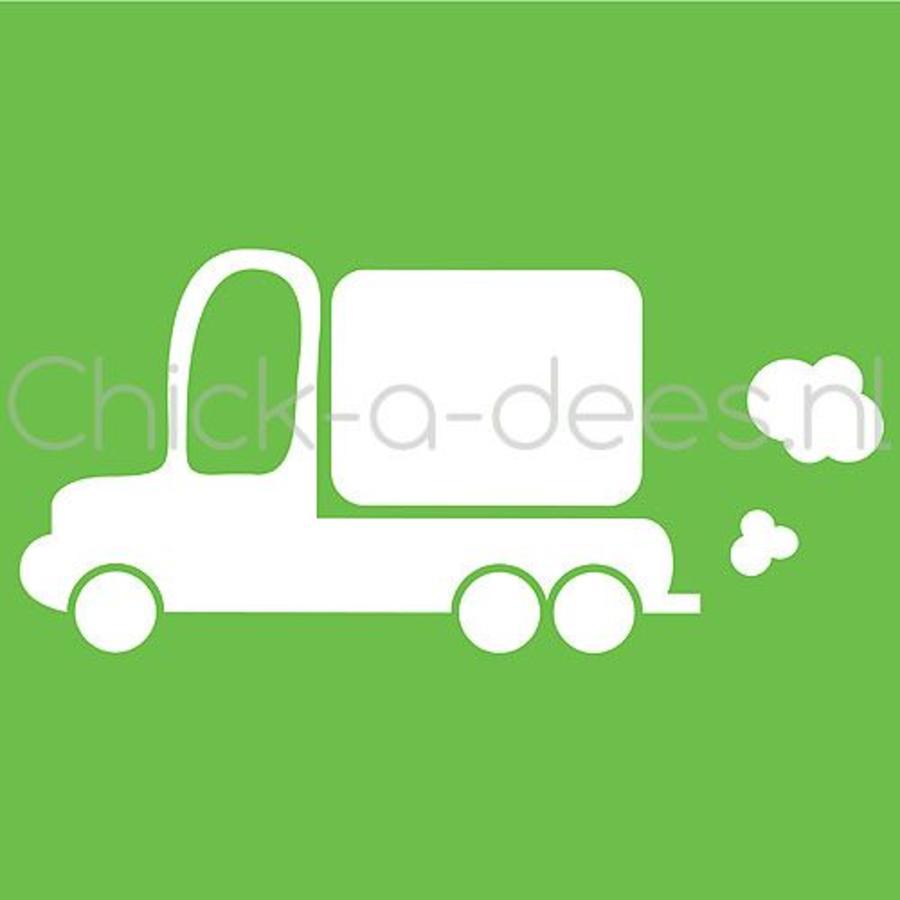 Vrachtwagen print voor overall
