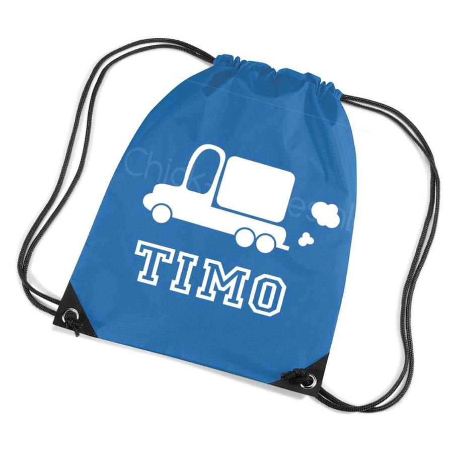 Gym bag with name and truck-1