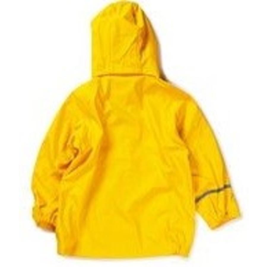 Waterproof yellow raincoat with hood
