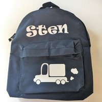 thumb-Backpack with name print and Truck-2