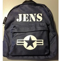 thumb-Backpack with name print and stars & stripes-2
