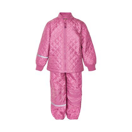 roze thermo jas en broek
