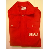 thumb-Red overalls with name or text printing-4