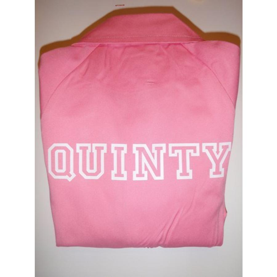 Pink overall with name or text printing-2