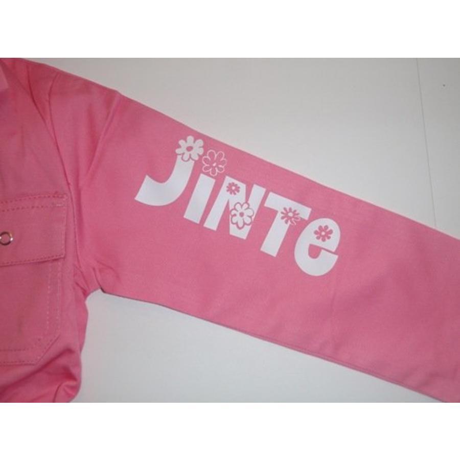 Licht roze overall met naam of tekst bedrukking-4
