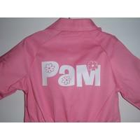 thumb-Licht roze overall met naam of tekst bedrukking-1