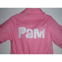 thumb-Pink overall with name or text printing-1