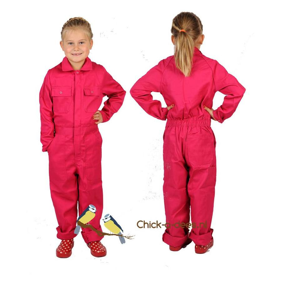 Pink fuchsia overall with name or text printing