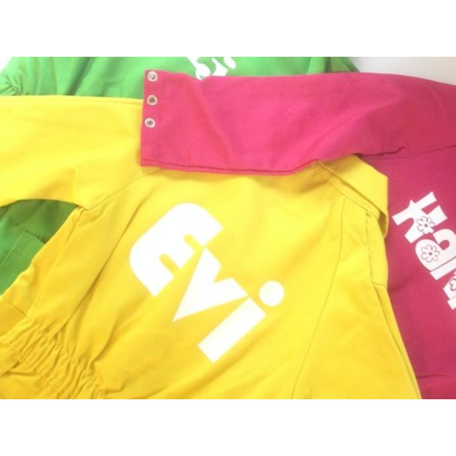 Yellow overall with name or text printing-2