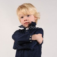 thumb-Dark blue overalls with name or text printing-4