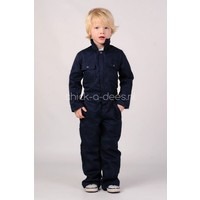 thumb-Dark blue overalls with name or text printing-5