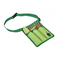 Set of children's garden tools in waist bag