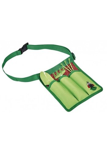 Kriebeldiertjes Set of children's garden tools in belt pouch