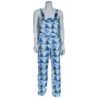 Delft blue dungarees M / V for garden and carnival