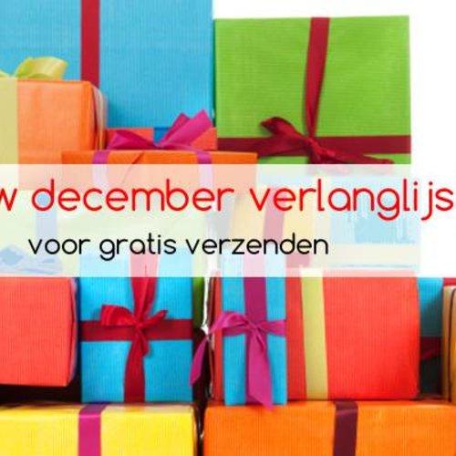 Sinterklaas verlanglijstje met gratis verzenden