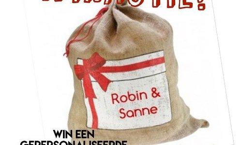 Winactie: een gepersonaliseerde jute zak van Sinterklaas