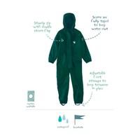 Waterproof coveralls, rain boiler suit - dark green
