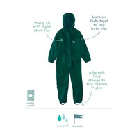 Waterproof coveralls, rain boiler suit - dark green