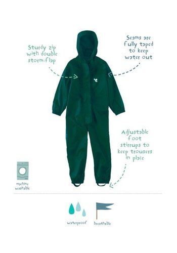 MP Waterproof overall, regenoverall - donkergroen KDV & BSO