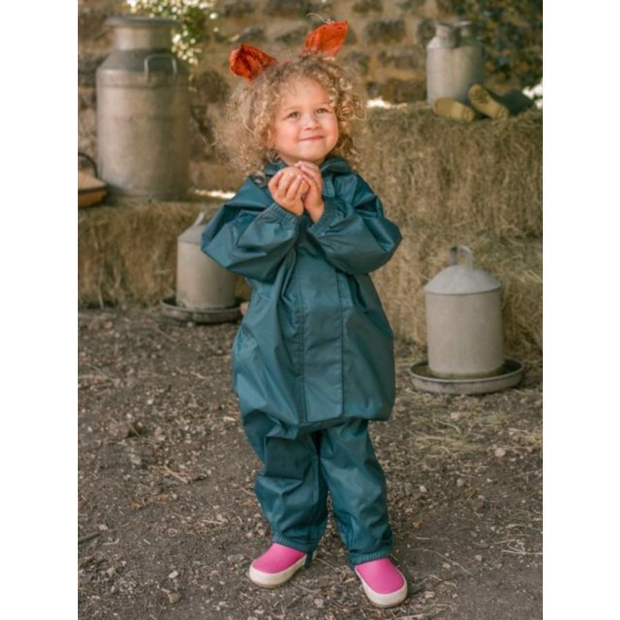 Waterproof coveralls, rain boiler suit - dark green-2