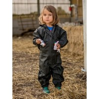 thumb-Waterproof coveralls, rain boiler suit - black-2