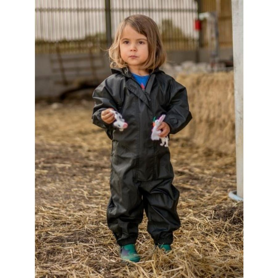 Waterproof coveralls, rain boiler suit - black-2