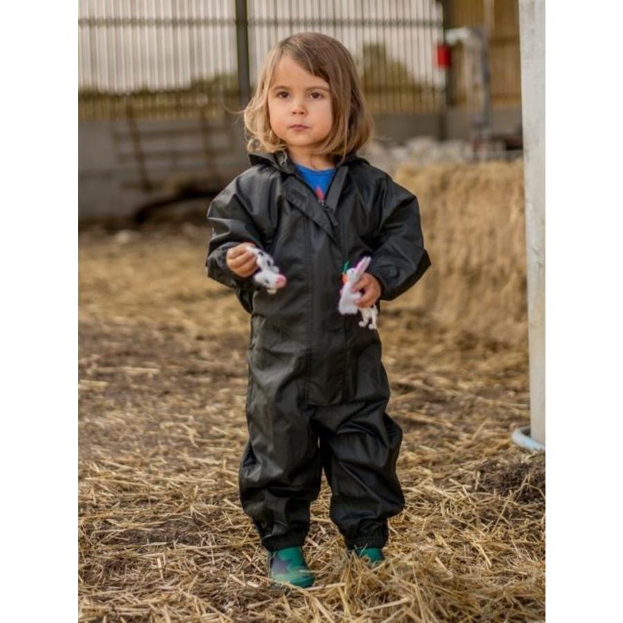 Waterproof overall, regenoverall - zwart KDV & BSO-2