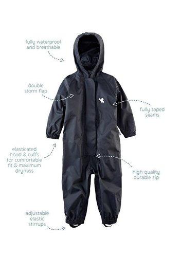 MP Waterproof overall, regenoverall - zwart KDV & BSO