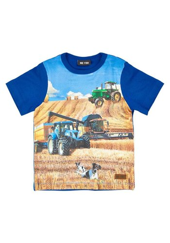 ME TOO T-shirt in blue with tractor