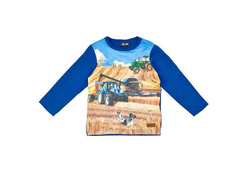 ME TOO Longsleeve with tractor print in blue