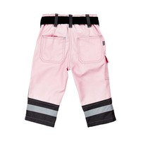 thumb-Pink Children's worker with pockets and knee patches-2
