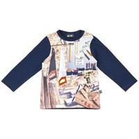 T-shirt met gereedschap - lange mouwen - blauw