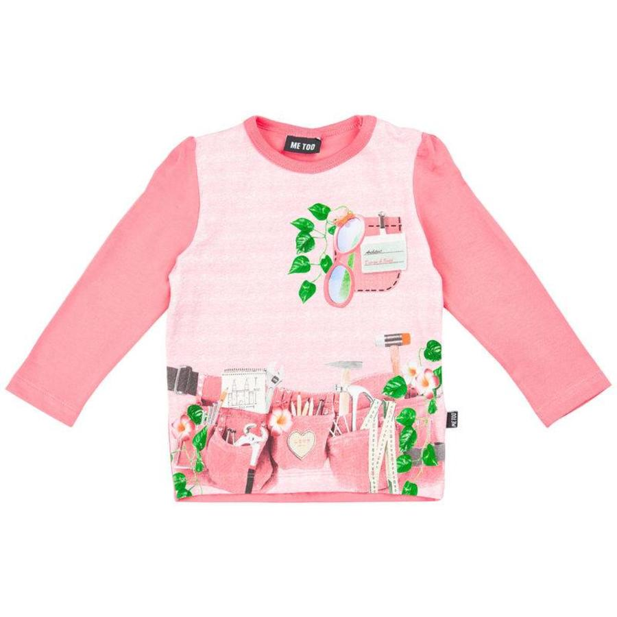 Pink long sleeved shirt with tools-1