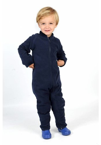 CeLaVi Fleece pak onesie, jumpsuit navy blauw| 68-104