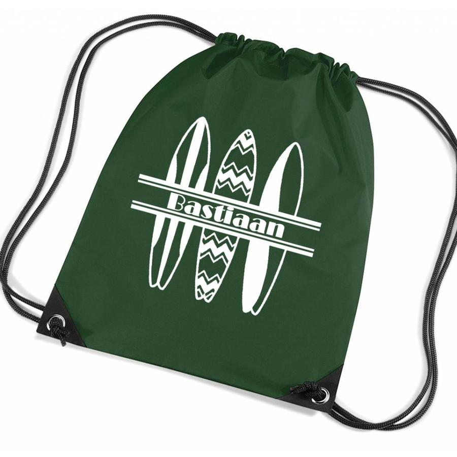 Personalised drawstring gymbag with surfboards and your name-2