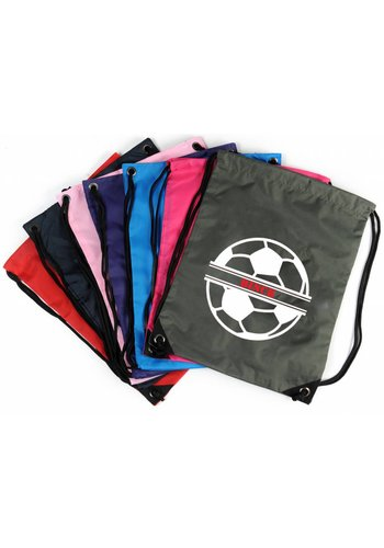 Gym bag with foorball and your name