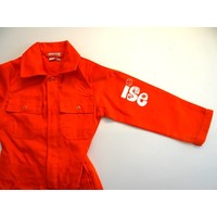 Orange overalls with name or text printing