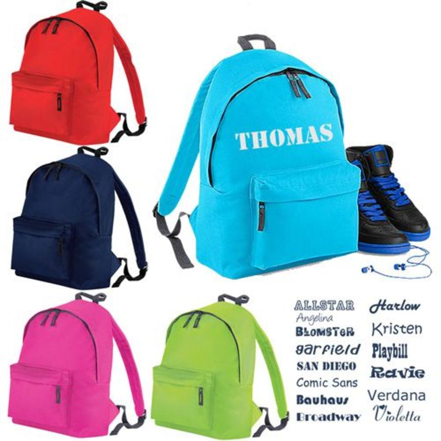 Backpack with name and sheap print-3
